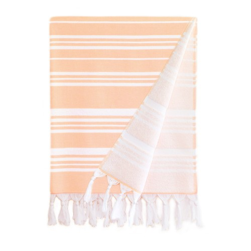 Ephesus Pestemal Towel - Stripy  Design - Peach