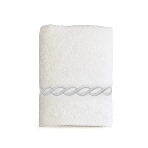 """""""Cadena"""" Embroidered Soft Twist Washcloth  - All Colors"""