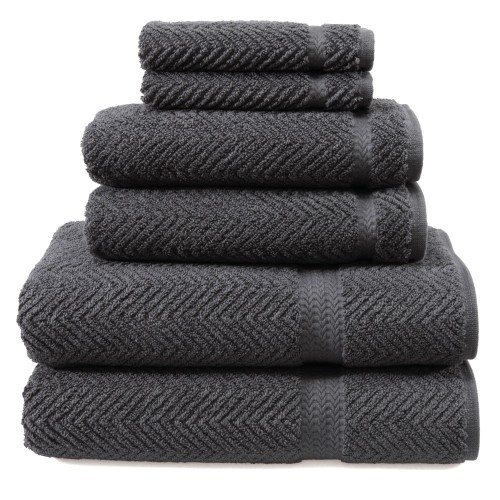 Herringbone Six-Piece Combination Set - Grey