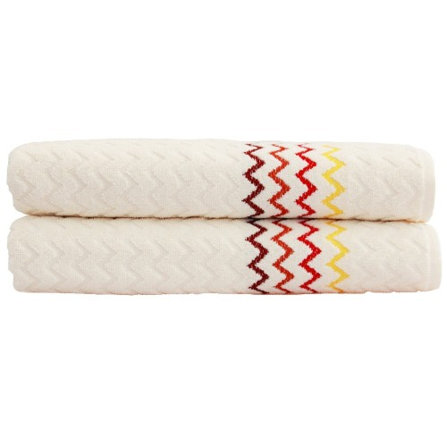 "Montauk ""Chevron"" Bath Towel - Cream (Set of 2)"