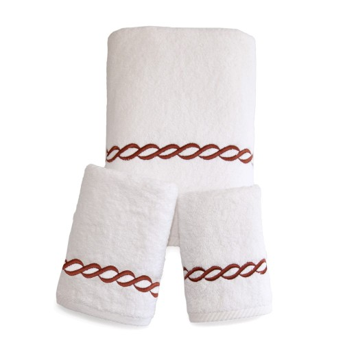 """""""Cadena"""" Embroidered Soft Twist Collection 3PCS Towel Set - All Colors"""