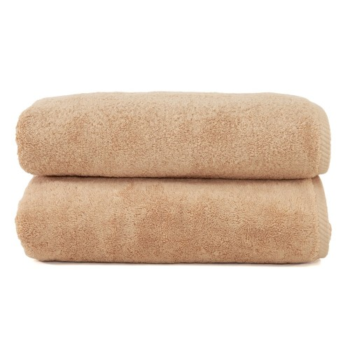 Soft Twist Two-Piece Bath Towel Set - Warm Sand