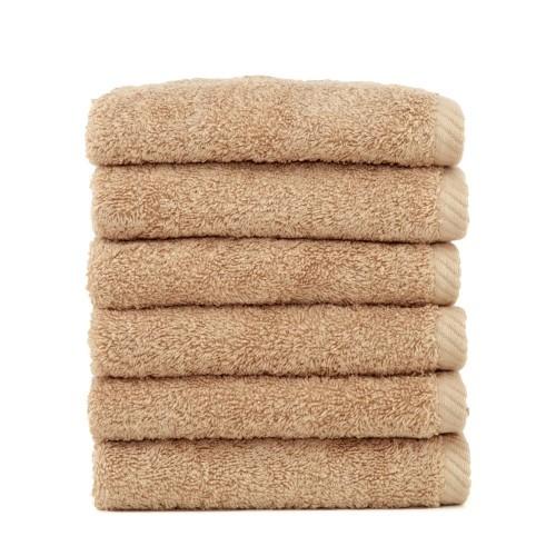 Soft Twist Six-Piece Washcloth Set - Warm Sand