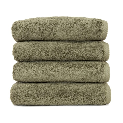 Soft Twist Four-Piece Hand Towel Set - Light Olive