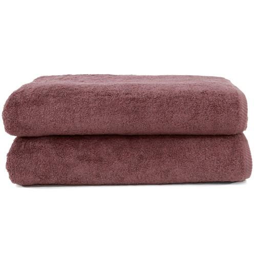 Soft Twist Two-Piece Bath Towel Set - Sugar Plum