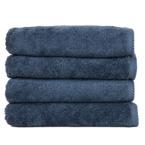 Soft Twist Four-Piece Hand Towel Set - Midnight Blue