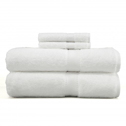 Luxury Hotel & Spa Terry Collection Two Piece Bath Towel Two Piece Washcloth  Set