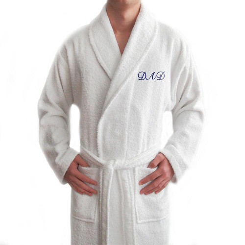 Embroidered Terry Bathrobe For DAD