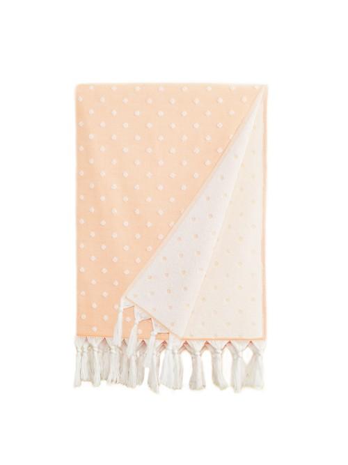 Ephesus Pestemal Towel - Polka Dot  Design - Peach
