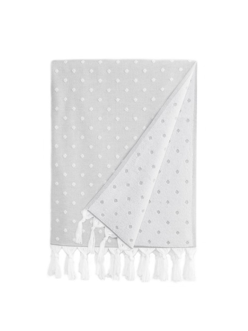Ephesus Pestemal Towel - Polka Dot  Design - Stone