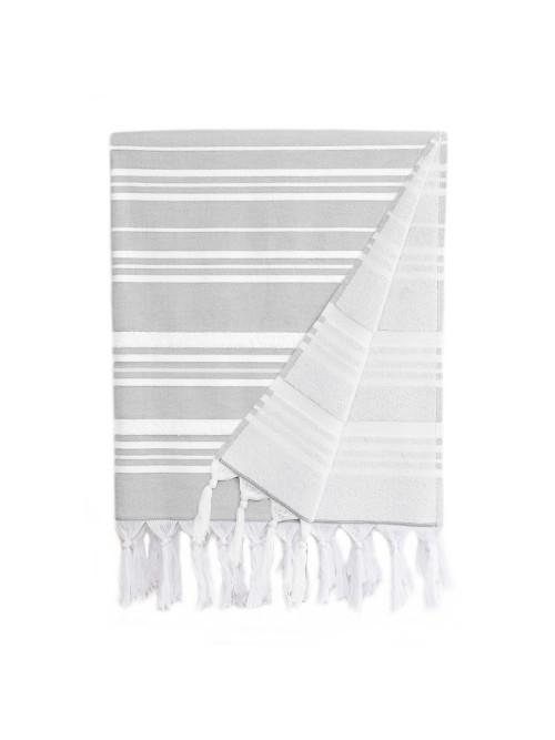 Ephesus Pestemal Towel - Stripy Design - Stone