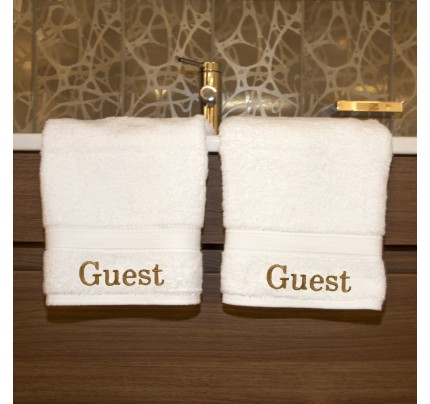 Embroidered Guest Hand Towels (Set of 2)