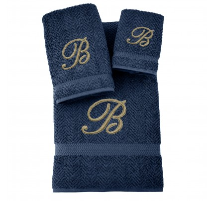 Herringbone Three-Piece Combo Set Collections - Monogram