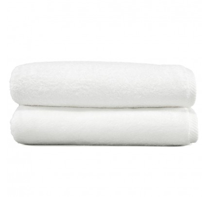 Soft Twist Two-Piece Bath Towel Set - White