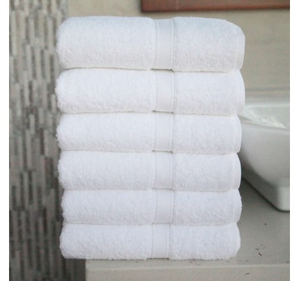 Six-Piece Hand Towel Set  White Terry
